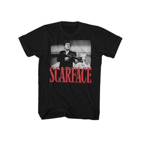 Scarface 1980's Gangster Crime Movie Montana's Fight Adult T-Shirt (1980's Movies Halloween Costumes)
