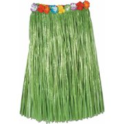 Green Hula Skirt with Flowers