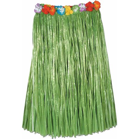 Green Hula Skirt with Flowers - Kids Hula Skirt