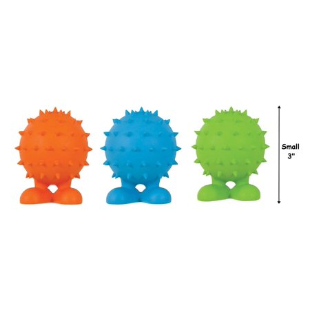 - Spiky Cuz Dog Toys Squeaker Durable Tough Rubber Choose Size Color Will Vary (Small - 3