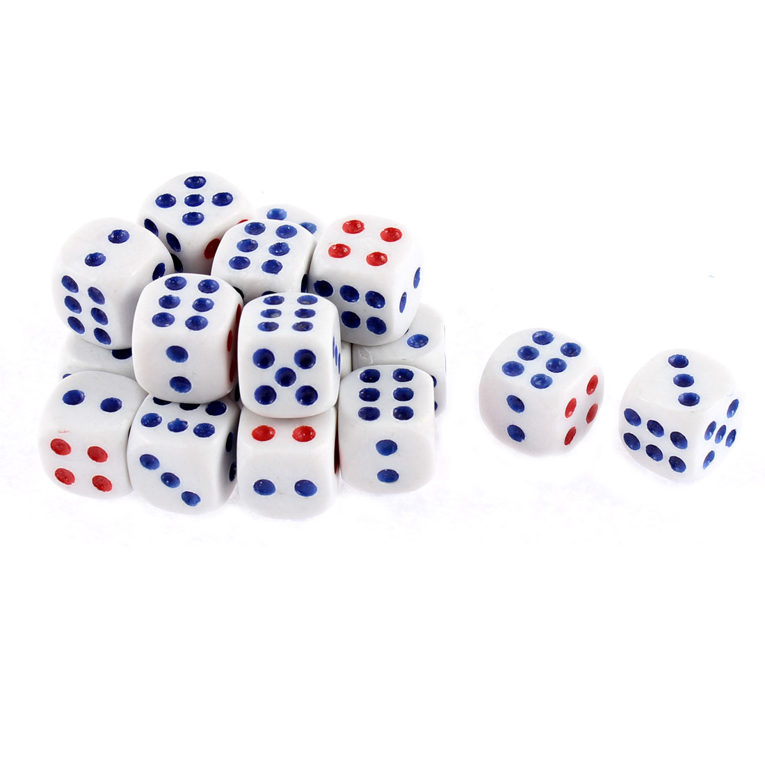 Unique Bargains 20 Pcs Round Corner Lucky Game Entertainment Bar Casino Cubical Dices