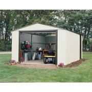 Murryhill 12 x 24 ft. Steel Storage Shed Coffee/Almond