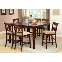Furniture of America Telmore Counter Height Dining Table - Brown Cherry