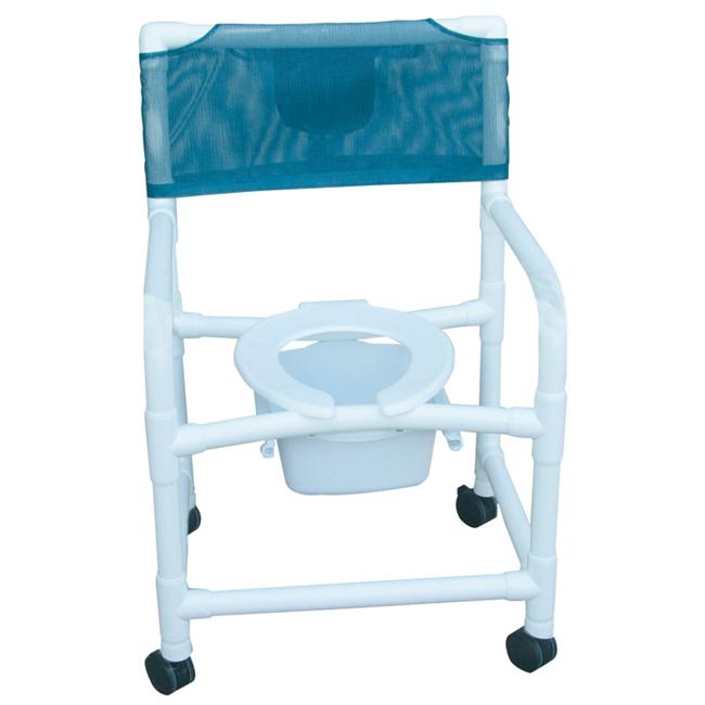MJM International E122-3TW-SQ-PAIL Echo Shower- Commode Chair