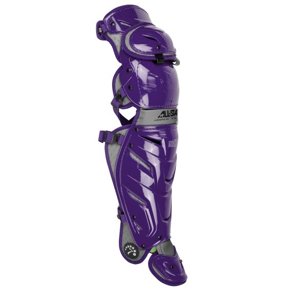 All Star Adult System7 Axis LG40WPRO 16.5 inch Leg Guards Purple
