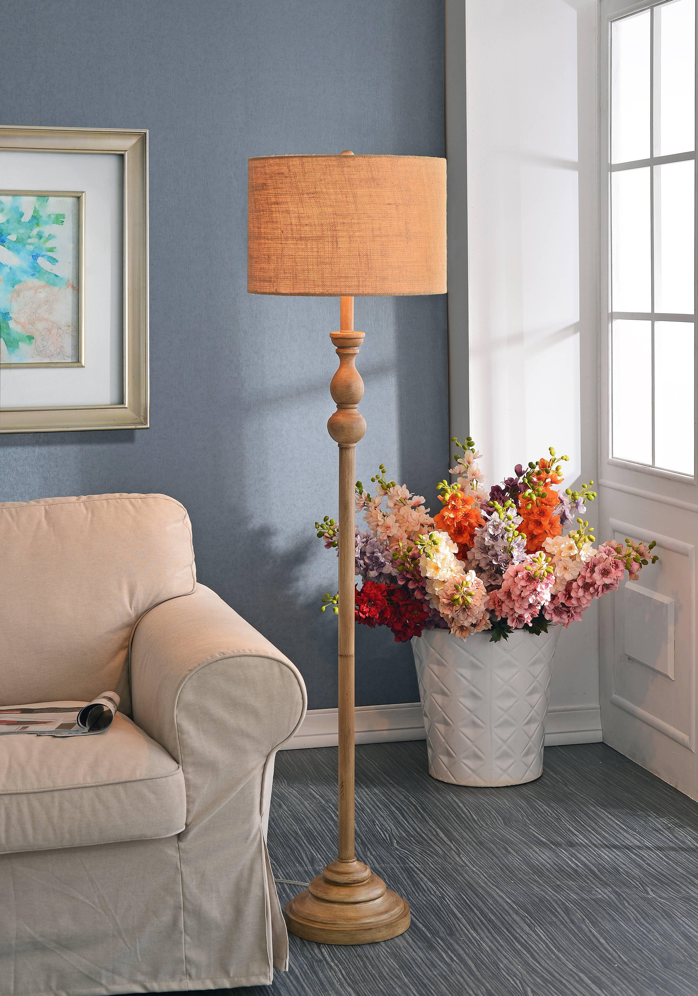 3-way Bennett Floor Lamp Toasted Almond Finish - Kenroy Home