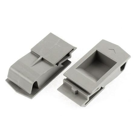 Cabinet Door Spring Loaded Recessed Flush Sliding Pull Latch Lock 2pcs ()