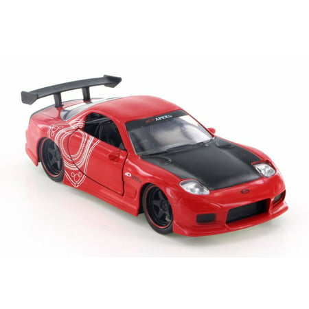 1993 Saturn Cars (1993  Mazda RX-7 Hard Top, Red - Jada 98563 - 1/32 Scale Diecast Model Toy Car (Brand New but NO BOX) )