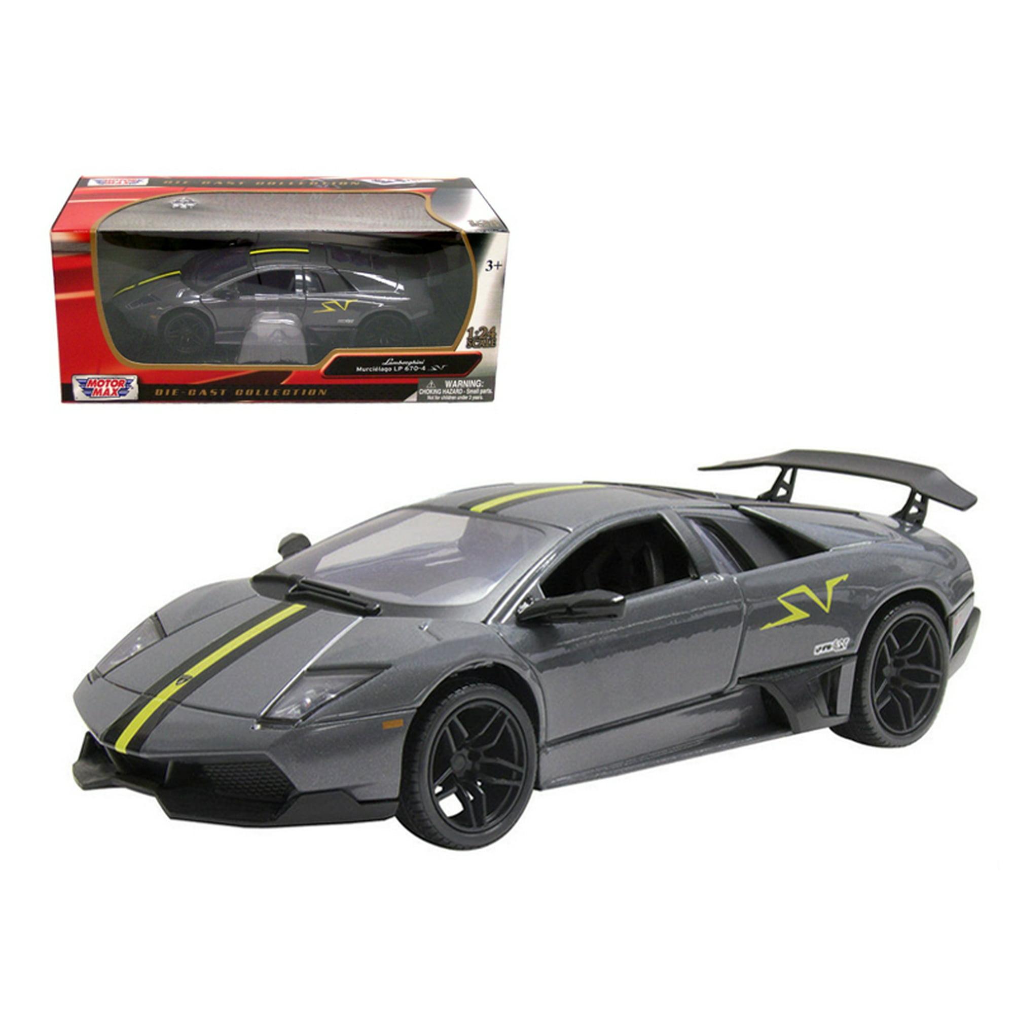 Lamborghini Murcielago Lp 670 4 Sv Grey Diecast Model Car 1 24 By
