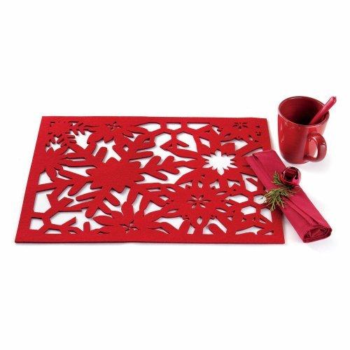 Tag Snowflake Felt Placemats - Set of 4