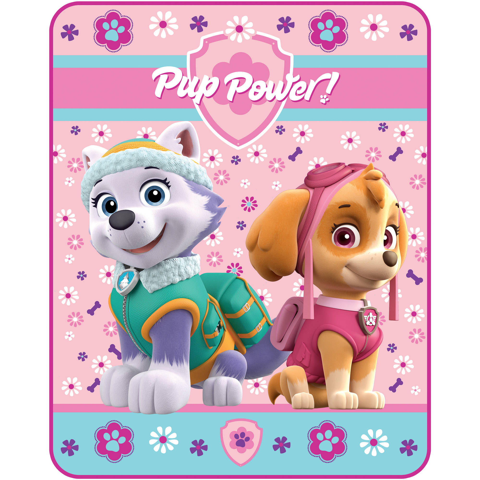 Nickelodeon Paw Patrol Puppy Patch Silk Touch Throw