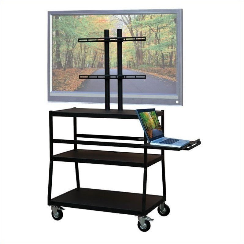 """VTI Wide Body Cart for up to 47"""" Flat Panel TV w/ Pull Out Shelf"""