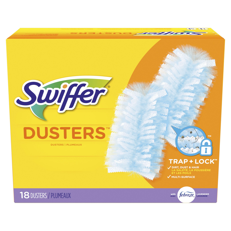 Swiffer Multi Surface Duster Refills, Febreze Lavender Vanilla & Comfort Scent, 18 Count