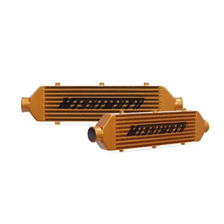 Mishimoto Universal Gold Z Line Intercooler Overall Size: 28x8x3 Core Size: 21x6x2.5 Inlet / Outlet