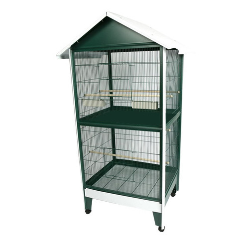 A&E Cage A Cage Co. Two Story Pitched Roof Bird Aviary