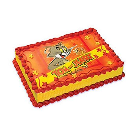 Tom And Jerry Edible Image Cake Decoration