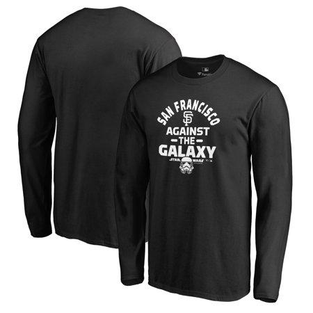San Francisco Giants Fanatics Branded MLB Star Wars Against The Galaxy Long Sleeve T-Shirt - Black