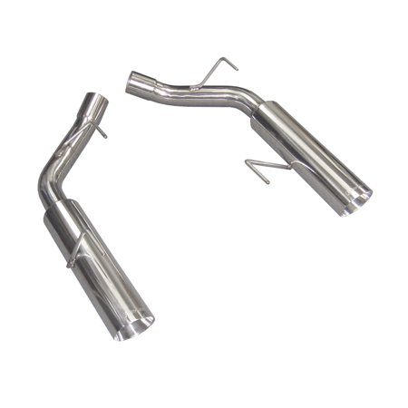 Pypes Performance Exhaust SFM60MS Pype Bomb Series Axle Back Exhaust System; Split Rear Dual Exit; Incl. Muffler Delete Pipe; 4 in. Polished Tips; Hardware; Polished Finish 304 Stainless Steel; Back Exhaust 4' Slash Cut