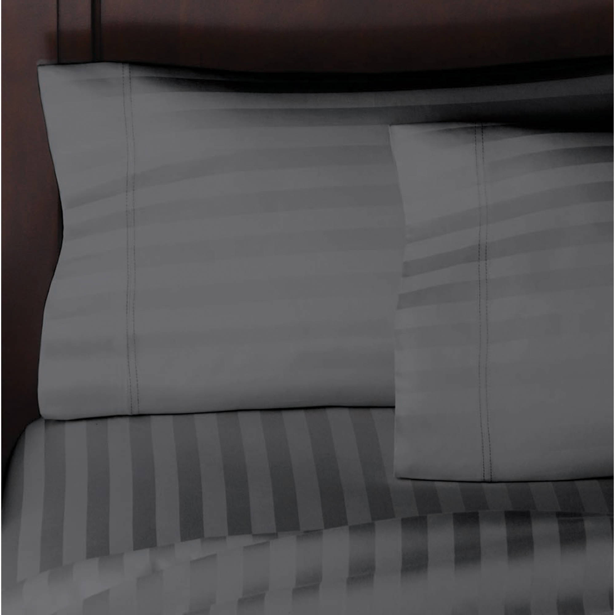 Better Homes and Gardens 300 Thread Count Wrinkle Free Damask Stripe Pillow Case Collection
