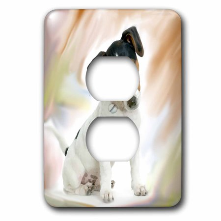 3dRose Jack Russell Terrier - 2 Plug Outlet Cover - Jack Russell Pug
