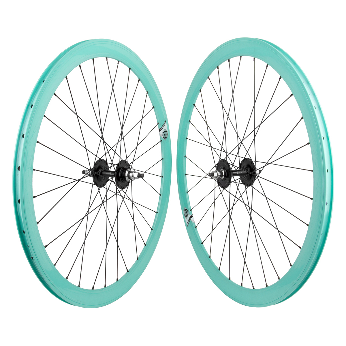 Origin8 TA42 700c Bike Wheelset Teal NMSW FX/FX Loose Hub