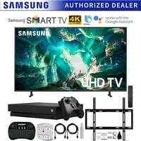 w//Flat Wall Mount Kit Bundle for 45-90 TVs Samsung QN82Q60RA 82 Q60 QLED Smart 4K UHD TV Renewed 6-Outlet Surge Adapter 2019 Model 2.4GHz Wireless Backlit Keyboard Smart Remote