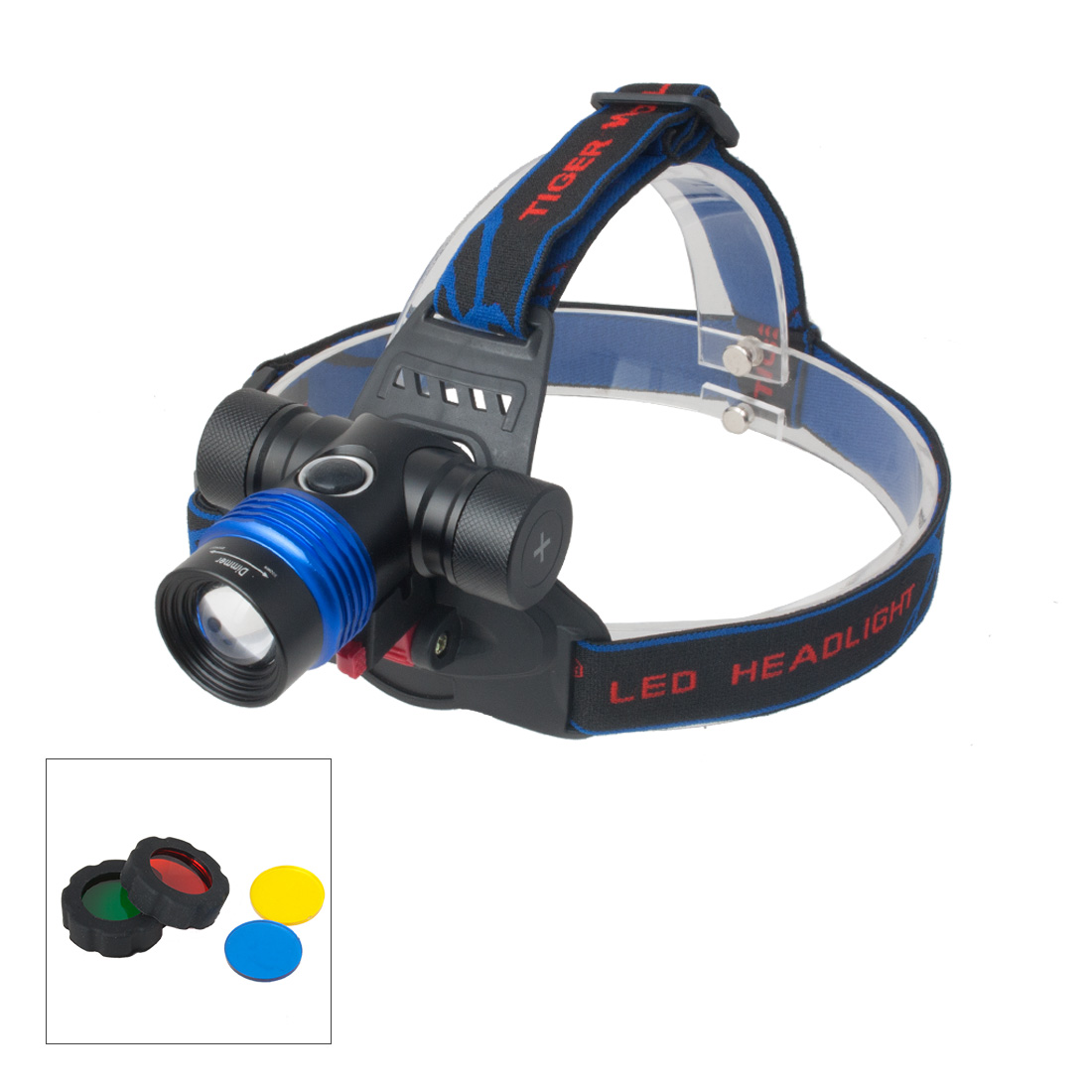 Zoom Adjustable Focus  Headlamp Bicycle Light Torch Lamp Super Bright 5 Modes