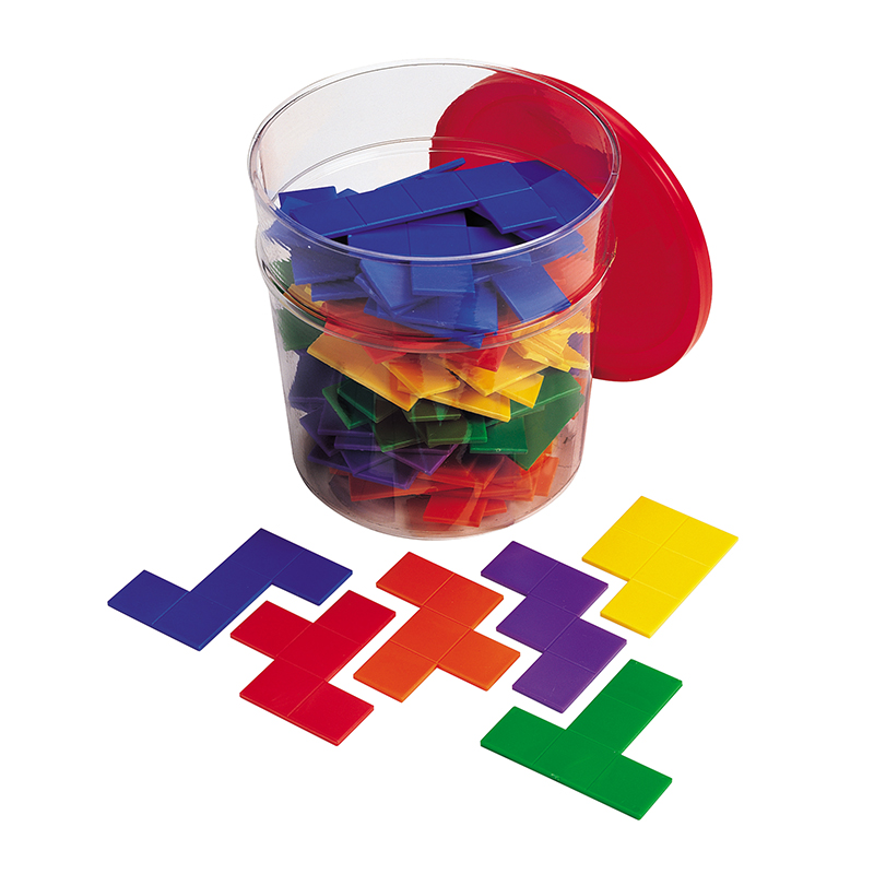 Learning Resources Rainbow Premier Pentominoes, Set of 6