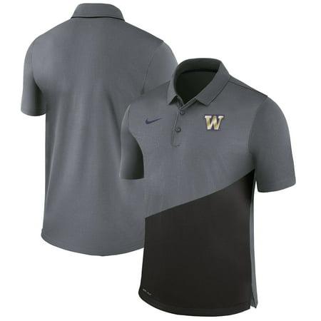 Washington Huskies Nike Stadium Performance Polo - Anthracite