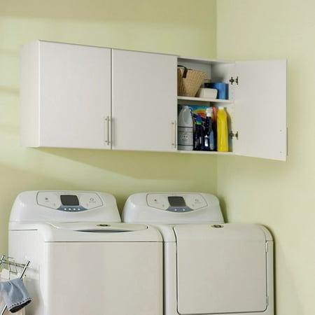 White Wood Wall Cabinet - Prepac Elite 54