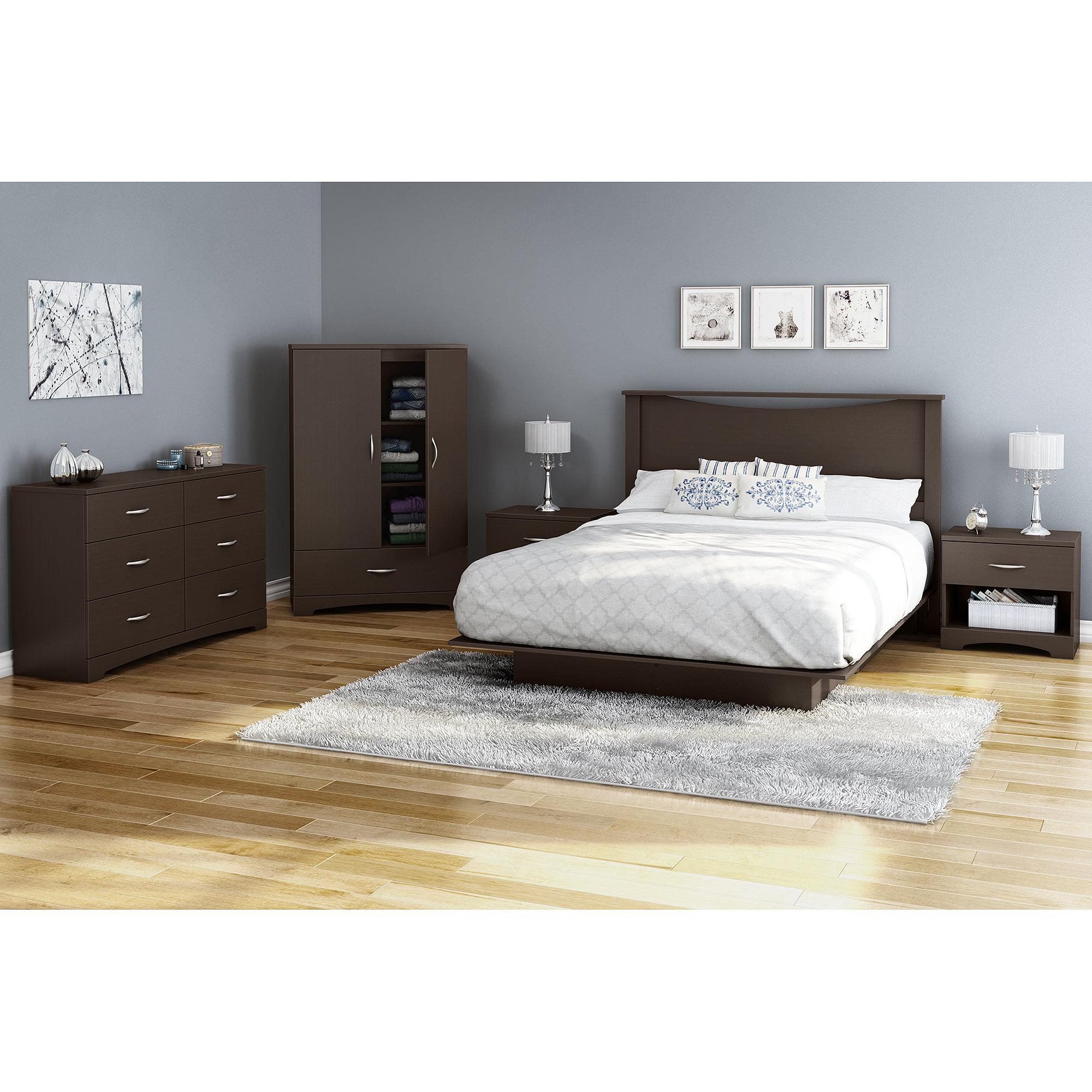 Full Size Platform Bed Frame Bedroom Foundation Furniture