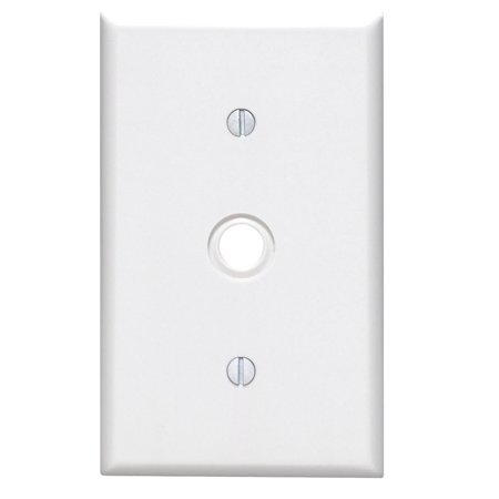 Leviton 3824976 White 1 gang Plastic Cable & Telco Wall Plate (Telco Halloween)