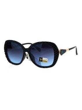 b2ef80dace Product Image Womens Bling Rhinestone Rock Candy Glitter Butterfly  Sunglasses Black Blue Smoke