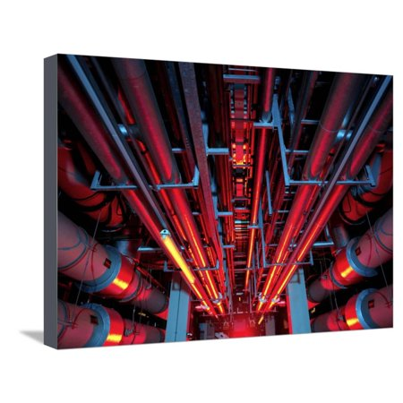 Air Conditioning Pipes Stretched Canvas Print Wall Art By Tek Image Art Cool Air Conditioning