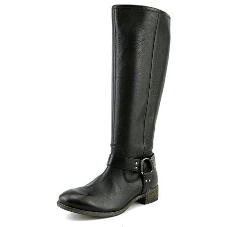 9abc76fc565 Diba Rue Women Round Toe Leather Black Knee High Boot