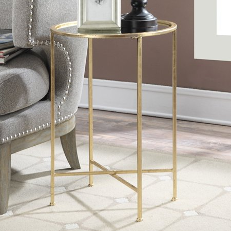 Convenience Concepts Gold Coast Julia Mirrored End Table, (Convenience Concepts Gold Coast Faux Marble End Table)