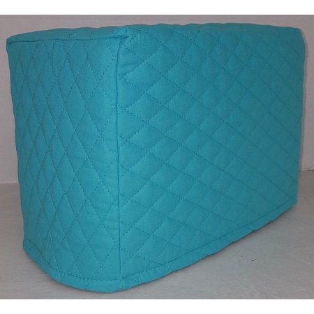 Quilted Toaster Cover (4 Slice, Aqua (Blue Slice)