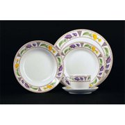 Euland China FQ-001C Chrysanthemum Dinnerware Set - Service For 8