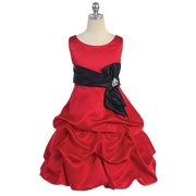 Good Girl Baby Girls 18M Red Black Tucked Bubble Occasion Dress