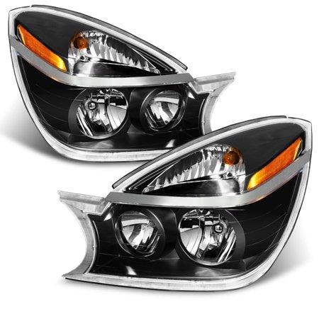Fits 02-07 Buick Rendezvous Amber Black Bezel Headlights Headlamps Left + Right Buick Rendezvous Replacement Headlight
