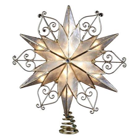 Kurt Adler 10 Light 6 Point Capiz Star Treetop
