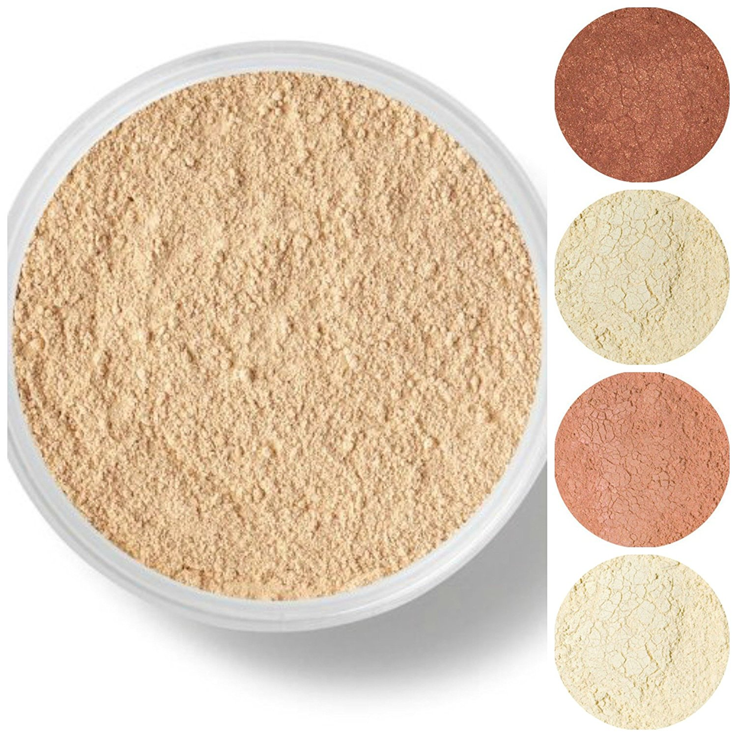 STARTER SET Mineral Makeup Kit Bare Skin Sheer Powder Matte Foundation Veil (Fair Shade 1)