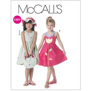 McCall's Pattern Toddlers' and Children's Dresses, Hat and Tote Bag, CF (4, 5, 6)