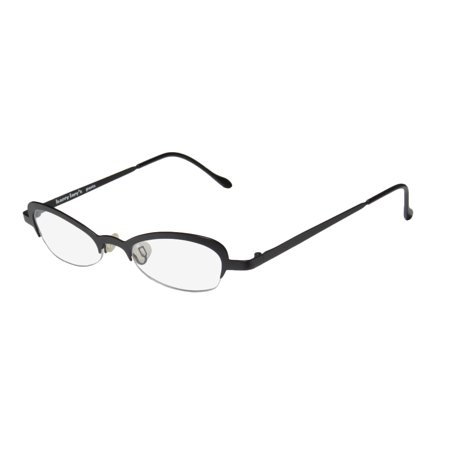New Harry Lary's Kitty Womens/Ladies Designer Half-Rim Black Simple & Elegant European Frame Demo Lenses 45-0-0 (Eyeglasses Europe)