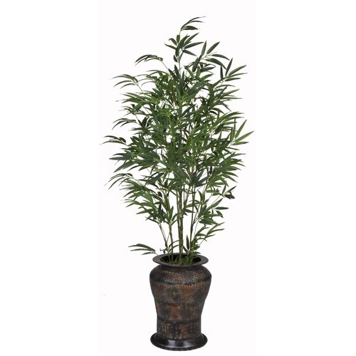 House of Silk Flowers Inc. Bamboo Floor Plant in Decorative Vase