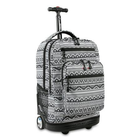JWorld, Sundance Laptop Rolling Backpack (Rolling Computer Bag Blue)