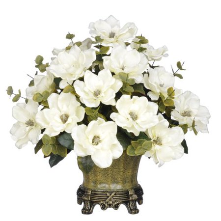 House of silk flowers inc magnolia centerpiece in decorative vase house of silk flowers inc magnolia centerpiece in decorative vase mightylinksfo