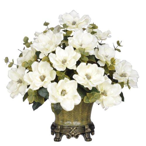 House of Silk Flowers Inc. Magnolia Centerpiece in Decorative Vase