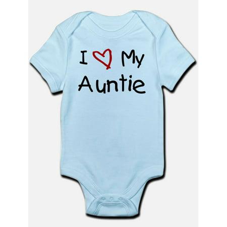 CafePress - I Love My Auntie Infant Bodysuit - Baby Light (Best Hanes Auntie Baby Clothes)