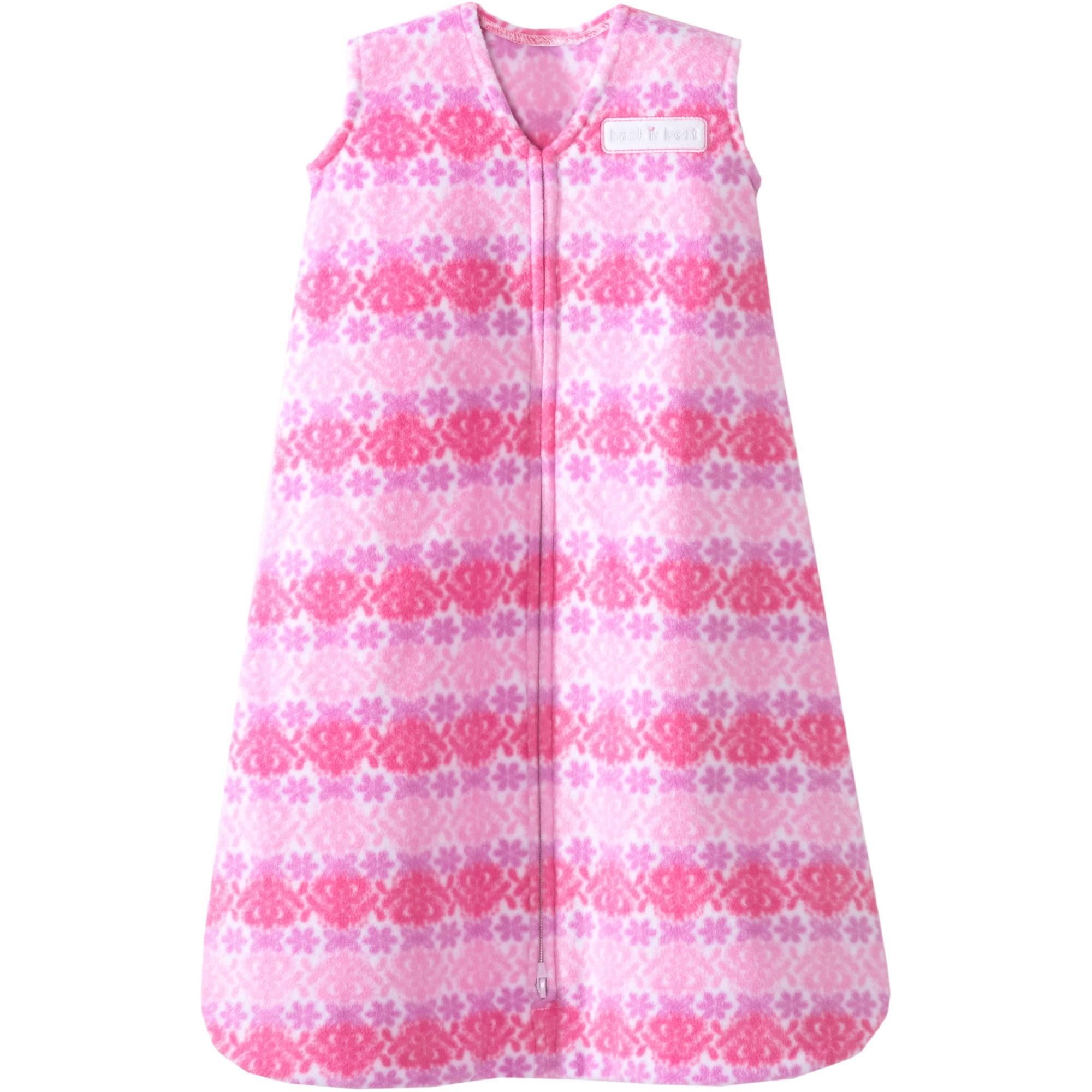 HALO SleepSack Wearable Blanket, Microfleece, Soft Pink, Small